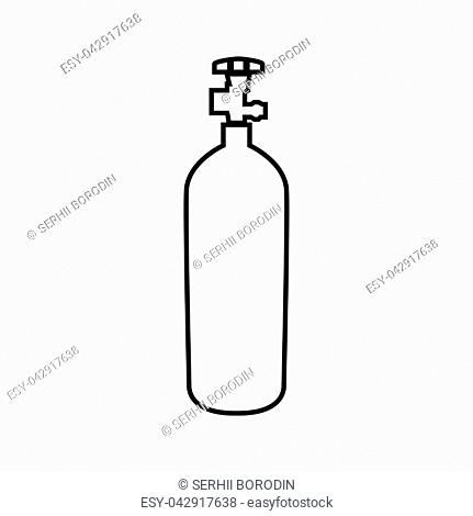 Propane gas cylinde it is black color icon