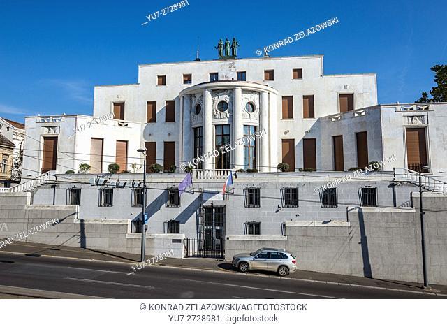 Building of French Embassy at Pariska Street in Belgrade city, Serbia
