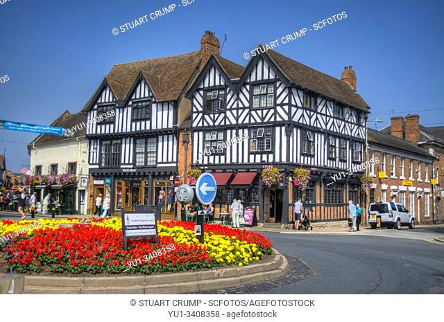 Traditional timber framed building in Stratford-Upon-Avon UK