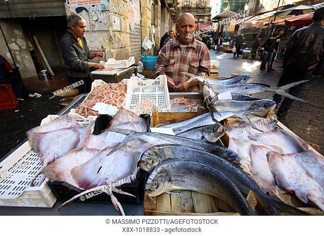 The fish market in Catania, sicily, Italy