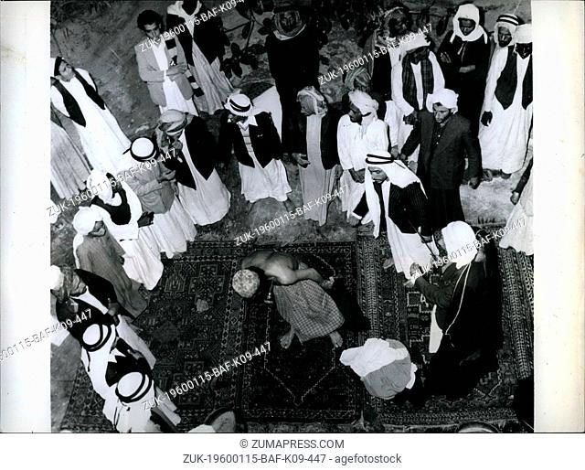 1966 - An self mutilation in Oman: An Arab pierces his chest with a sharp stiletto. Ashura Muslim Shi'a Muslims chains blade ritual self-flagellation (Credit...