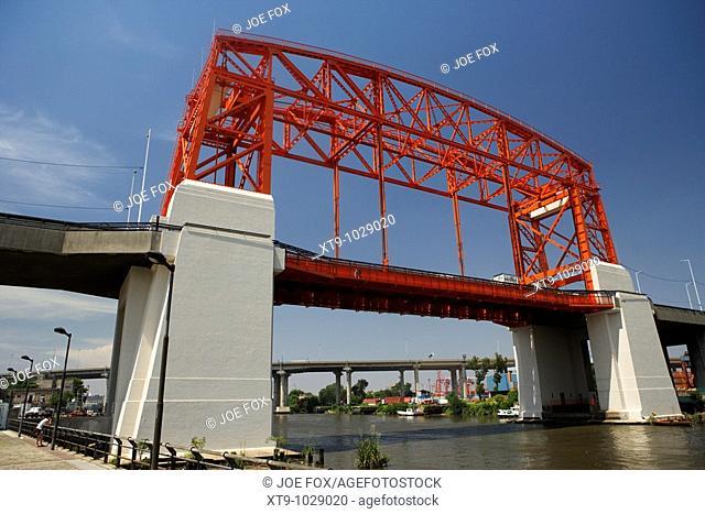 new nicolas avellaneda bridge across the riachuelo river la boca capital federal buenos aires republic of argentina south america