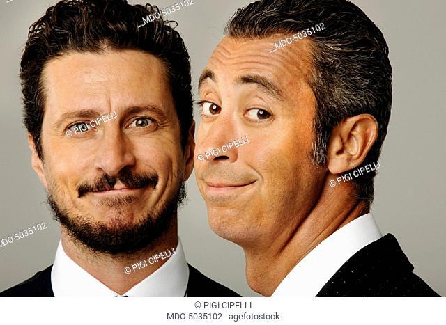 Comedian duo Luca Bizzarri and Paolo Kessisoglu, hosting Colorado. Cernusco sul Naviglio, Italy. 7th September 2015