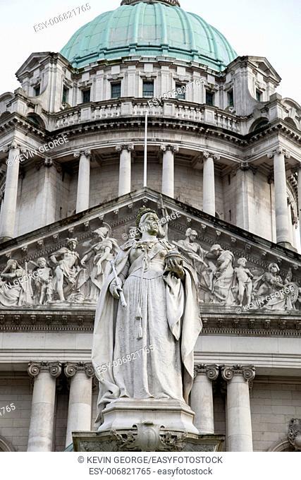 Queen Victoria Memorial Statue outside City Hall, Belfast (1906), Northern Ireland