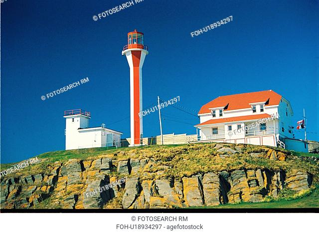 lighthouse located at Cape Forchu, Nova Scotia
