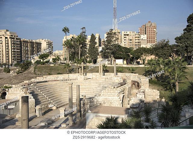 Roman amphitheatre, The small Odeum, 2nd century AD, Alexandria, Egypt