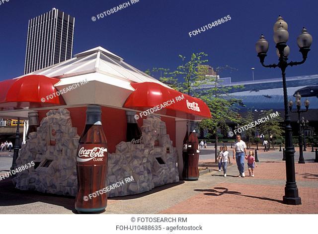 Atlanta, GA, Georgia, Coca-Cola Fountain at Underground Atlanta in downtown Atlanta