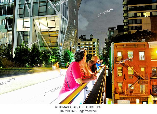 High Line Public Park, Lower West Side, Manhattan, Chelsea - New York City, USA