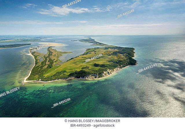 View from the north, island Hiddensee, Baltic coast, Mecklenburg-Western Pomerania, Germany
