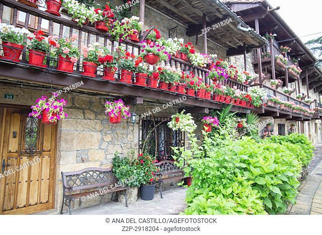 Villacarriedo village Cantabria valley Spain