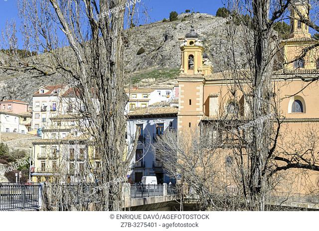 View of San Anton quarter, Cuenca city, Spain