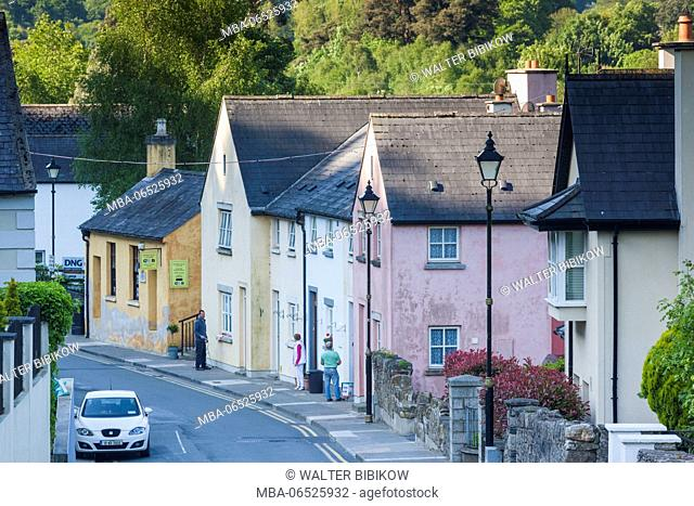 Ireland, County Wicklow, Avoca, village houses