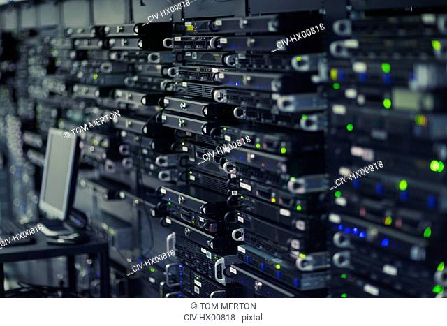 Server room rack panel