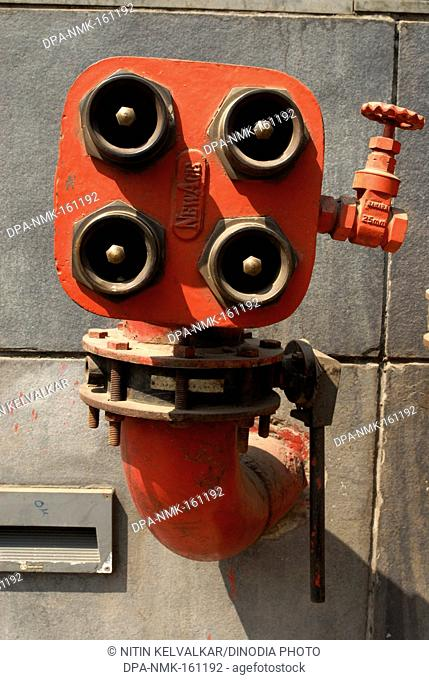 Fire Fighting equipments of huge commercial complex Hydrant valve hose coupling at Ganeshkhind road ; Pune ; Maharashtra ; India
