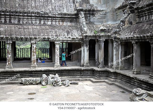 Angkor Wat Temple, Angkor Temple Complex, Siem Reap Province, Cambodia, Asia, UNESCO. It was originally constructed as a Hindu temple dedicated to the god...