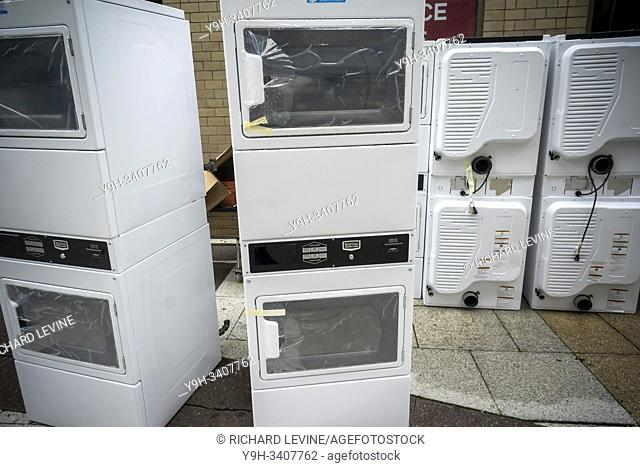 A delivery of Maytag brand dryers to an apartment building in New York on Tuesday, August 6, 2019