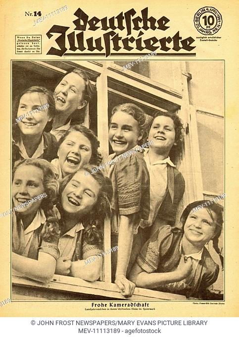 1944 Deutsche Illustrierte front page showing a group of German Land Girls