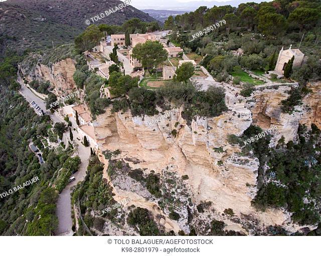 Sanctuaries of Gracia and Sant Honorat, Puig de Randa, Algaida, Mallorca, balearic islands, spain, europe