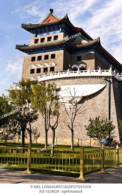 Archery tower, also known as Qianmen Gate, adjacent to Zhengyangmen Gate, Tiananmen Square, Beijing, China