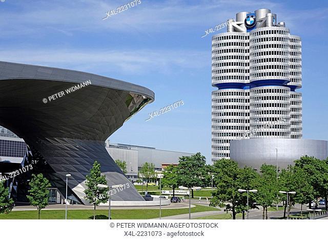 BMW-Welt, BMW-Museum and BMW Headquarters, Munich, Bavaria, Germany, Europe