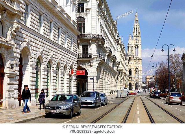 Vienna city hall tower