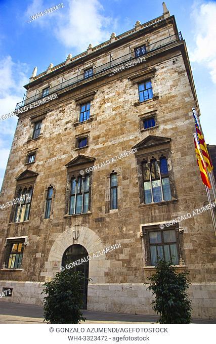 Palau de la Generalitat. Palace of the Generalitat (seat of the Valencian Autonomous Government). Valencia. Comunidad Valenciana. Spain