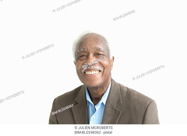 Portrait of smiling older Black man