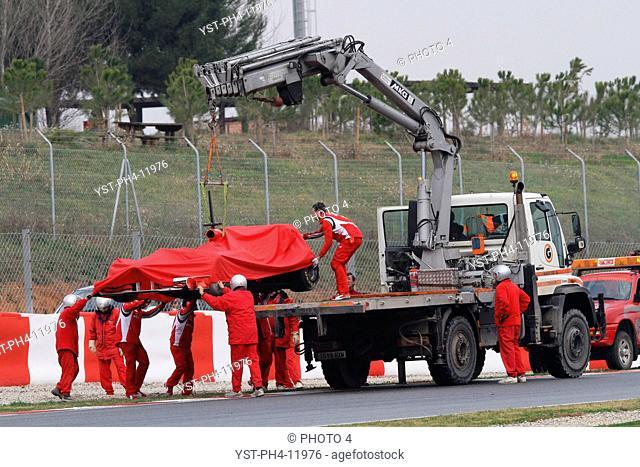 Truck, Felipe Massa, Testing, Barcelona, Espanha