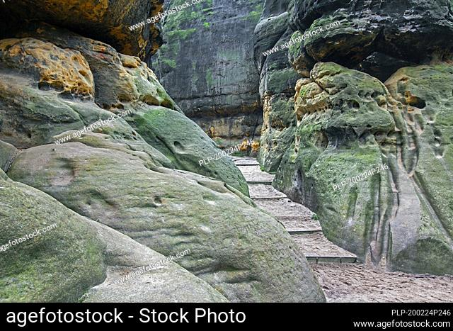 Großes Schrammtor / Grosse Schrammtor, Elbe Sandstone Mountains, Nationalpark Sächsische Schweiz / Saxonian Switzerland National Park, Germany
