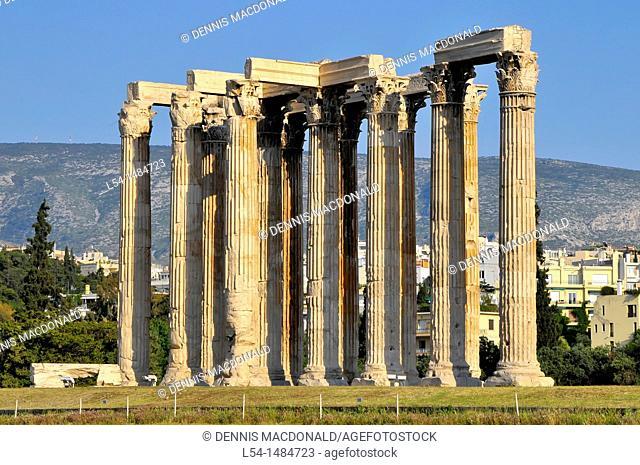 Temple Olympian Zeus Athens Greece