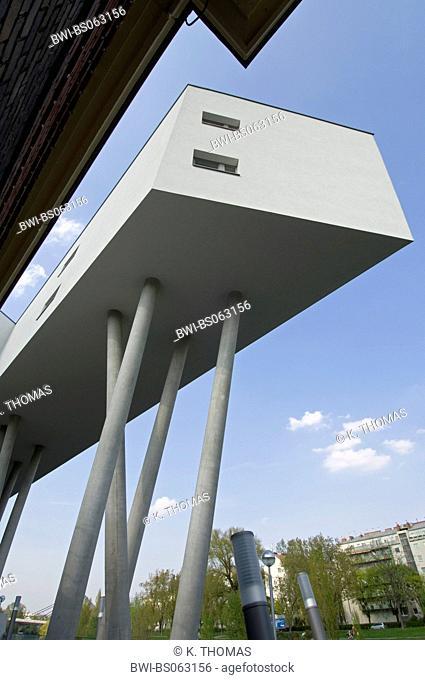 Zaha Hadid on the Danube canal, Austria, Vienna, Danube Channel