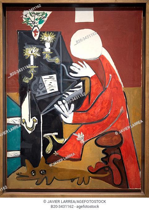 """The piano"", 1957, Pablo Picasso (1881-1973), Museu Picasso Museum, Barcelona, Catalonia, Spain"