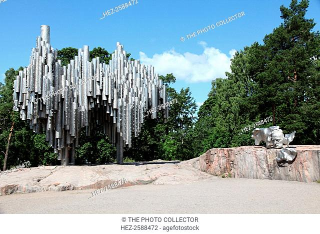 Sibelius Monument, Sibelius Park, Helsinki, Finland, 2011. Made from stainless steel, this monument to Jean Sibelius (1865-1957), Finland's greatest composer