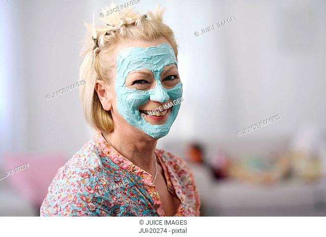 Portrait of senior woman wearing facial mask