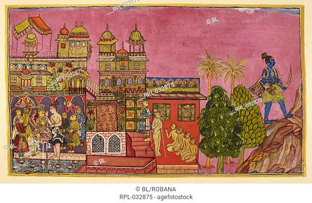 Scene from the Ramayana, Image taken from Ramayana, Kishkindha Kanda