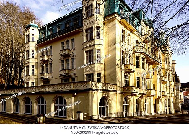 Residential architecture, Spa resort Marianske Lazne - Marienbad, Karlovy Vary Region, West Bohemia, Czech Republic, Europe