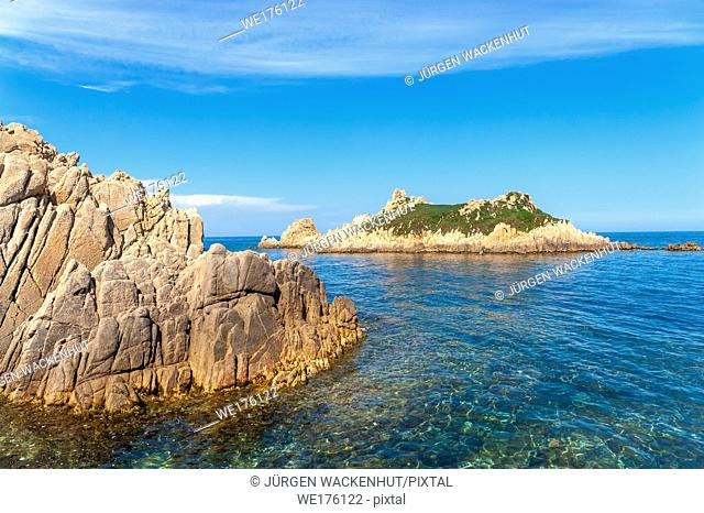 Island Rocher des Portes at the Cap Camarat, Ramatuelle, Var, Provence-Alpes-Cote d Azur, France, Europe