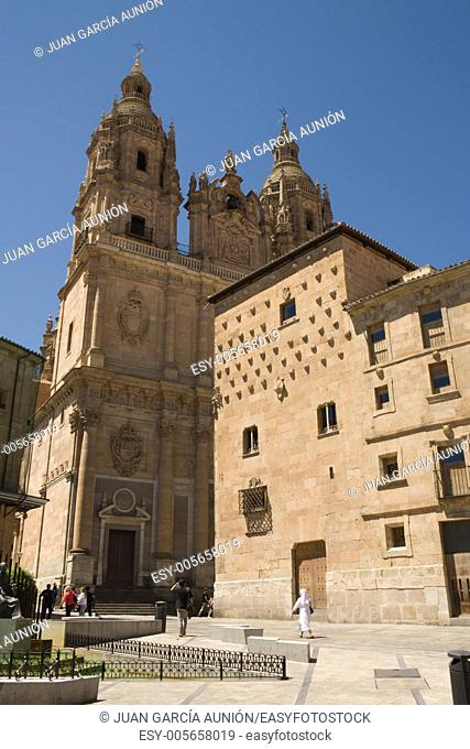 Casa de las conchas in front of the Pontifical University of Salamanca, Spain