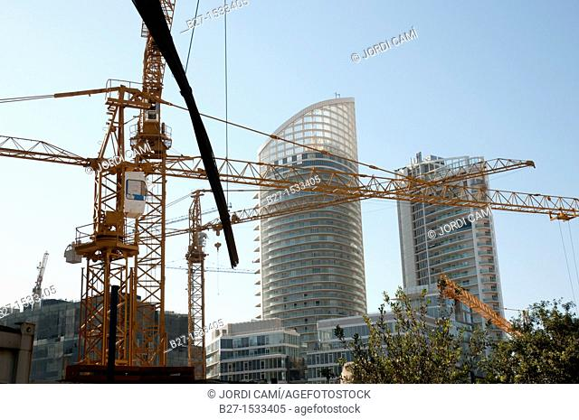 New Four Season Hotel under construction and luxury residential building in BCD Beirut Central District  Beirut  Lebanon