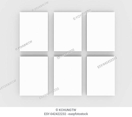 Blank books template, mockup for design uses in 3d rendering, top view