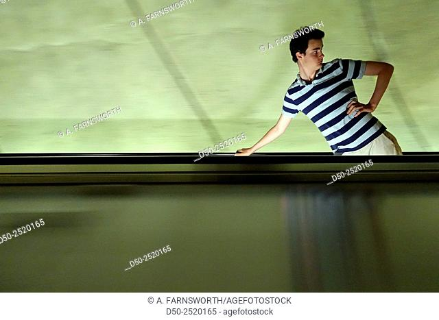 Teenager in Metro, Washington D.C., USA