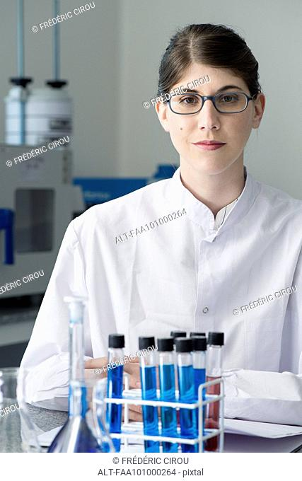 Scientist in lab, portrait