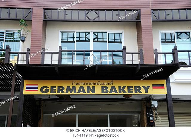 Billboard of a German Bakery in Hua Hin