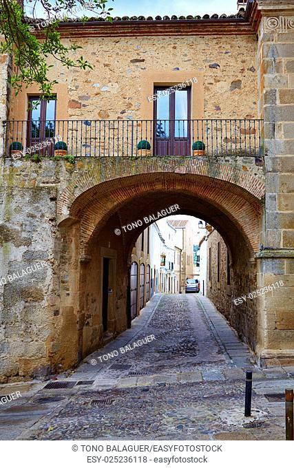Caceres Puerta de Coria door Spain arch in Extremadura