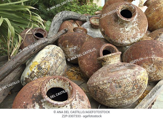 Old indian pots