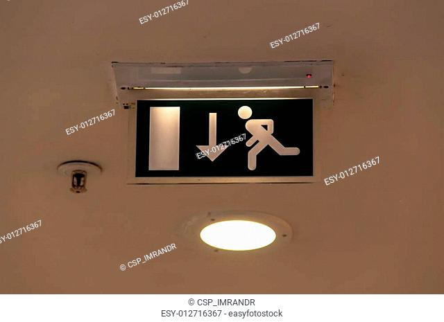 Sign for fire exit