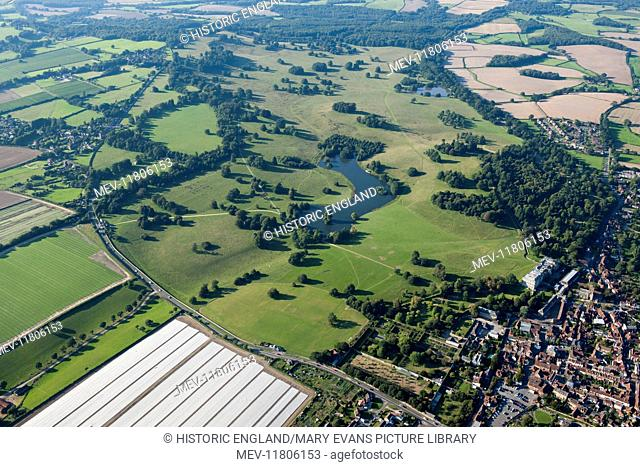 Petworth Park, West Sussex. Landscape park designed by Lancelot Capability Brown between 1751 and 1763