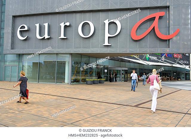 Lithuania Baltic States, Vilnius, Europos District, shopping mall