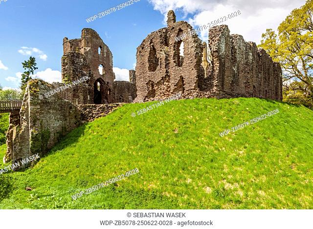 Ruined 13th century Grosmont Castle, Monmouthshire, Wales, United Kingdom, Europe