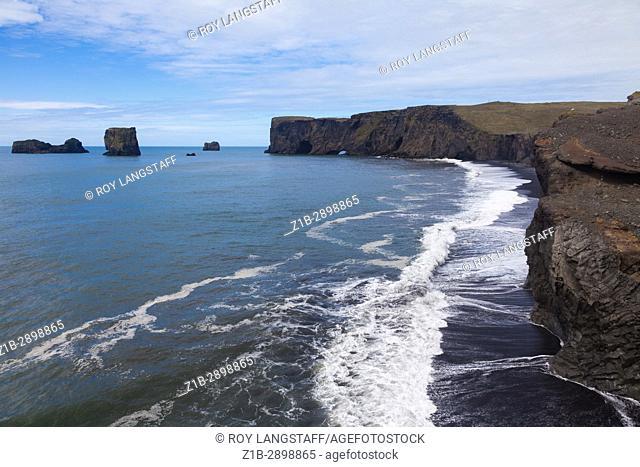 Coastline of southern Iceland near the community of Vik